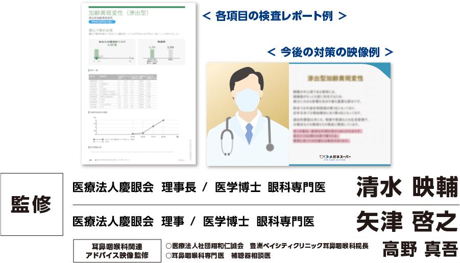 各項目の検査レポート例・ 今後の対策の映像例