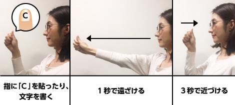 指スライドのトレーニング 【1回3セット 1日2回】