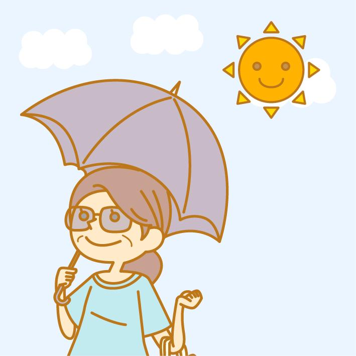 強い日差しと紫外線