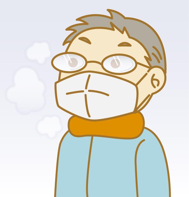 マスクをする季節は、メガネレンズが白く曇る現象が!