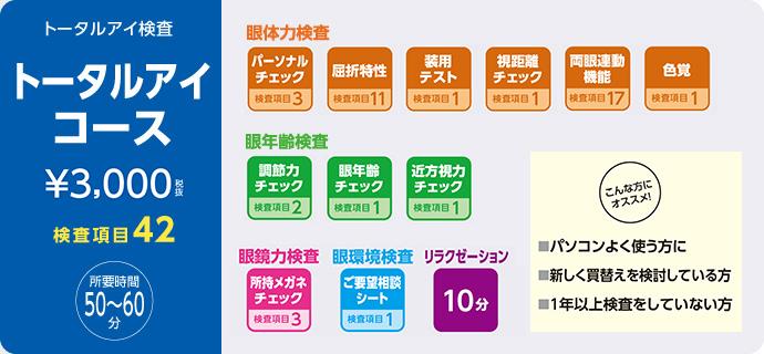 トータルアイコース 2000円